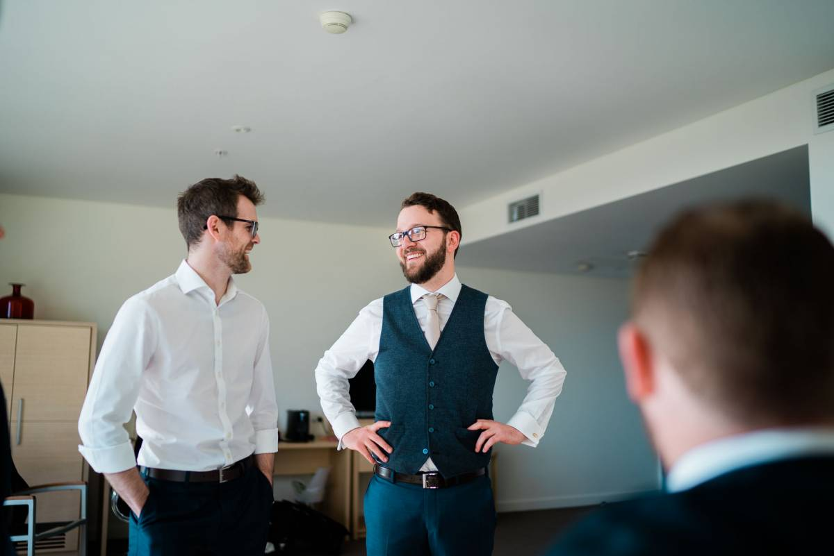 Groom and Groomsmen getting ready - Fuzzy Pear Studio Sydney Wedding Photography