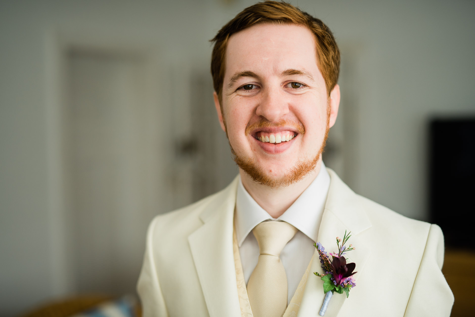 Groom in White Tie and Suit, ready for the wedding day - Fuzzy Pear Studio Sydney Wedding Photography