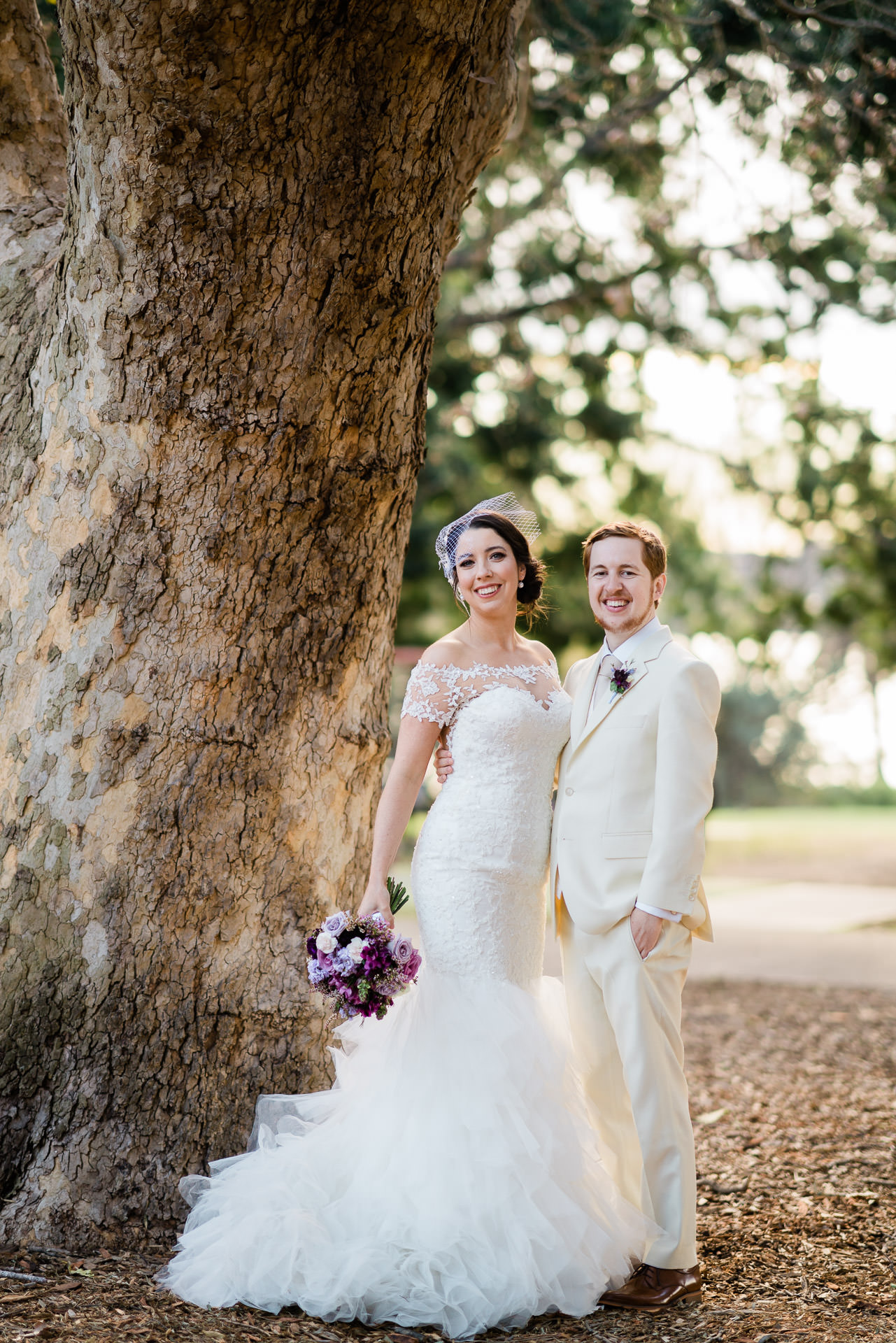 Bride and Groom go for a walk - Fuzzy Pear Studio Sydney Wedding Photography