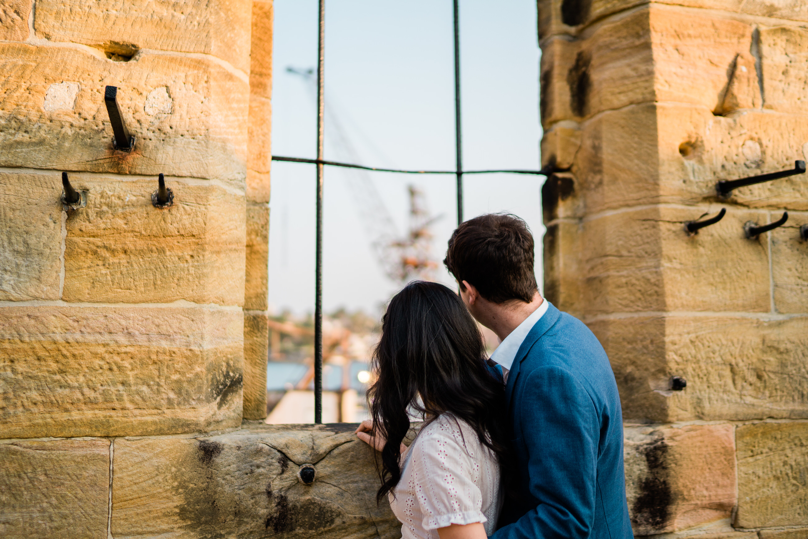 Sherry & Seb's Pre-Wedding Photos at Cockatoo Island - Photos by Fuzzy Pear Studio Sydney Wedding Photographers